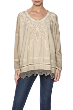 Gretty Zuegar Embroidered Boxy Top - Product List Image