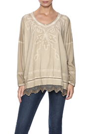 Gretty Zuegar Embroidered Boxy Top - Product Mini Image