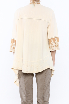 Gretty Zuegar Beige Embroidered Lace Cardigan - Alternate List Image