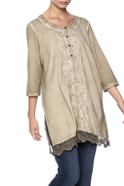 Gretty Zuegar Embroidered Sand Tunic - Product Mini Image