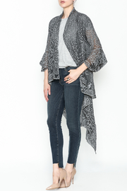 Gretty Zuegar Embroidered Silk Cardigan - Front cropped