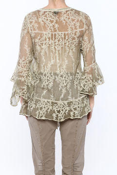 Gretty Zuegar Green Embroidered Silk Blouse - Alternate List Image