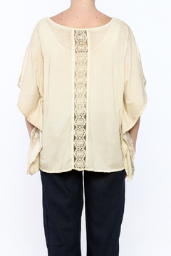 Gretty Zuegar Beige Embroidered Silk Top - Alternate List Image