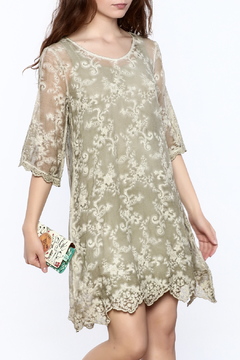 Gretty Zuegar Green Silk Tunic Dress - Product List Image