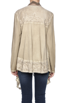 Gretty Zuegar Taupe Embroidered Shrug - Alternate List Image