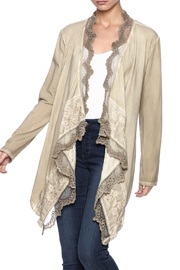 Gretty Zuegar Taupe Embroidered Shrug - Product Mini Image