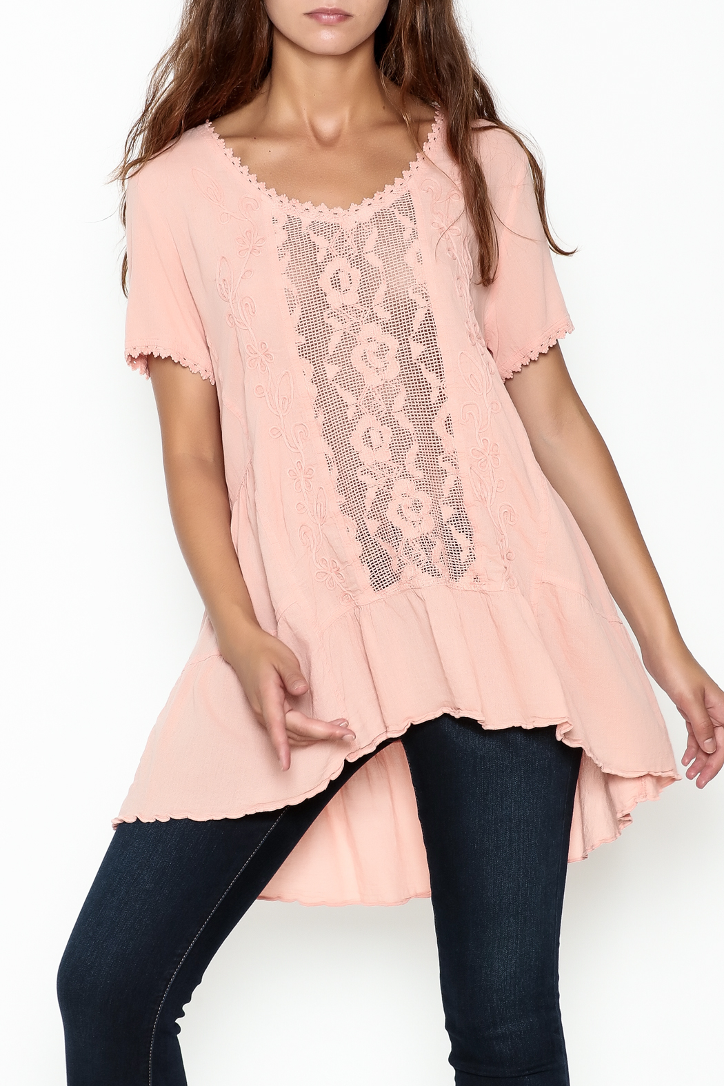 Gretty Zuegar High Low Tunic - Front Cropped Image