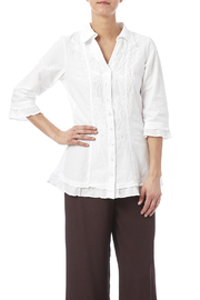 GRETTY ZUEGER Embroidered Fitted Blouse - Product Mini Image