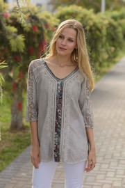 Gretty Zuegar Embroidered Boho Tunic - Product Mini Image