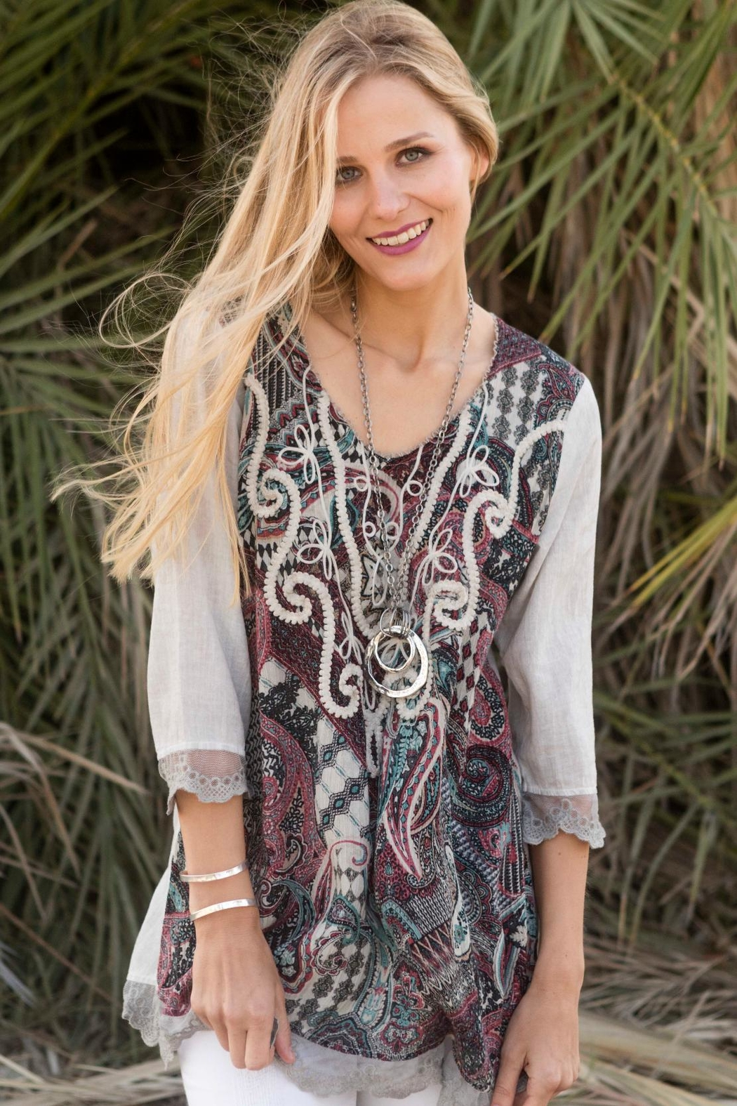 Gretty Zuegar Ethnic Embroidered Tunic - Main Image