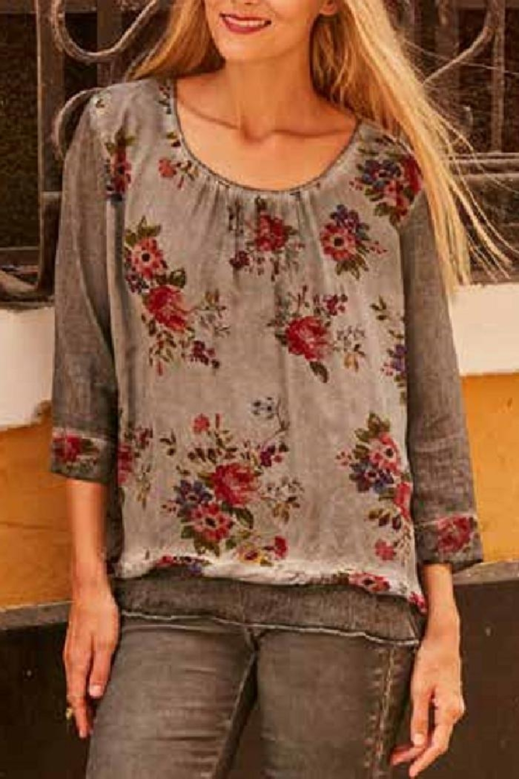 Gretty Zuegar Floral Scoop Neck - Main Image