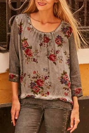 Gretty Zuegar Floral Scoop Neck - Product Mini Image