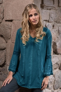 Gretty Zuegar Lace Embroidered Top - Alternate List Image