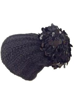 Grevi Black Paillette Beanie - Product List Image