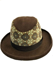 Grevi Brown Felt Hat - Front full body