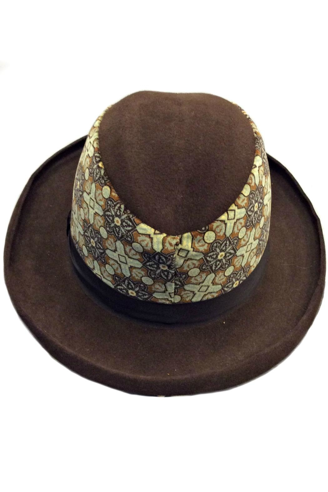 Grevi Brown Felt Hat - Side Cropped Image