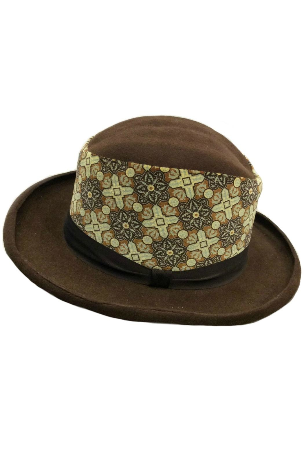 Grevi Brown Felt Hat - Main Image