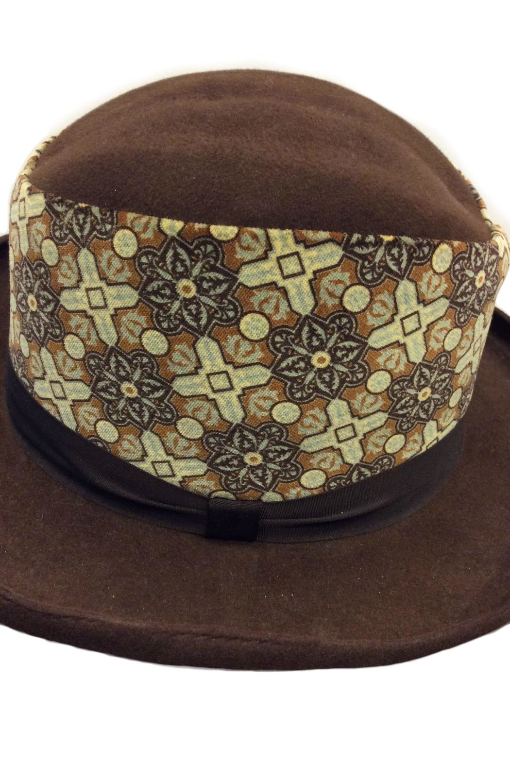 Grevi Brown Felt Hat - Back Cropped Image