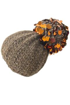Grevi Brown Paillette Beanie - Product List Image