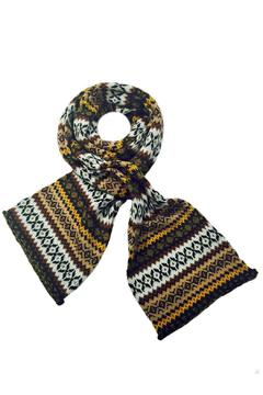Grevi Intarsia Knit Scarf - Alternate List Image