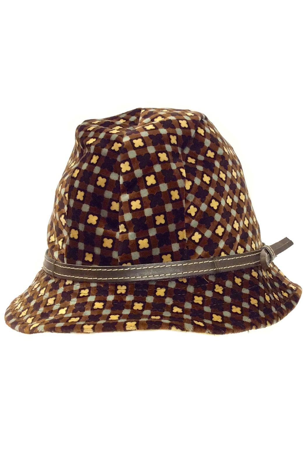 grevi printed velvet hat from portland by moods of
