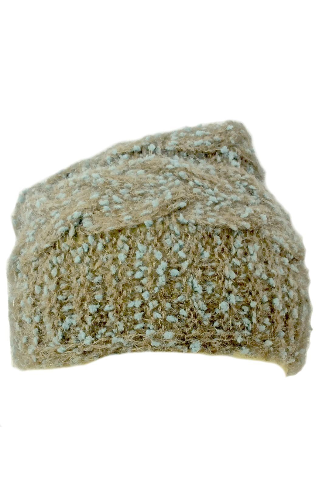 Grevi Slouchy Knitted Beanie - Front Full Image