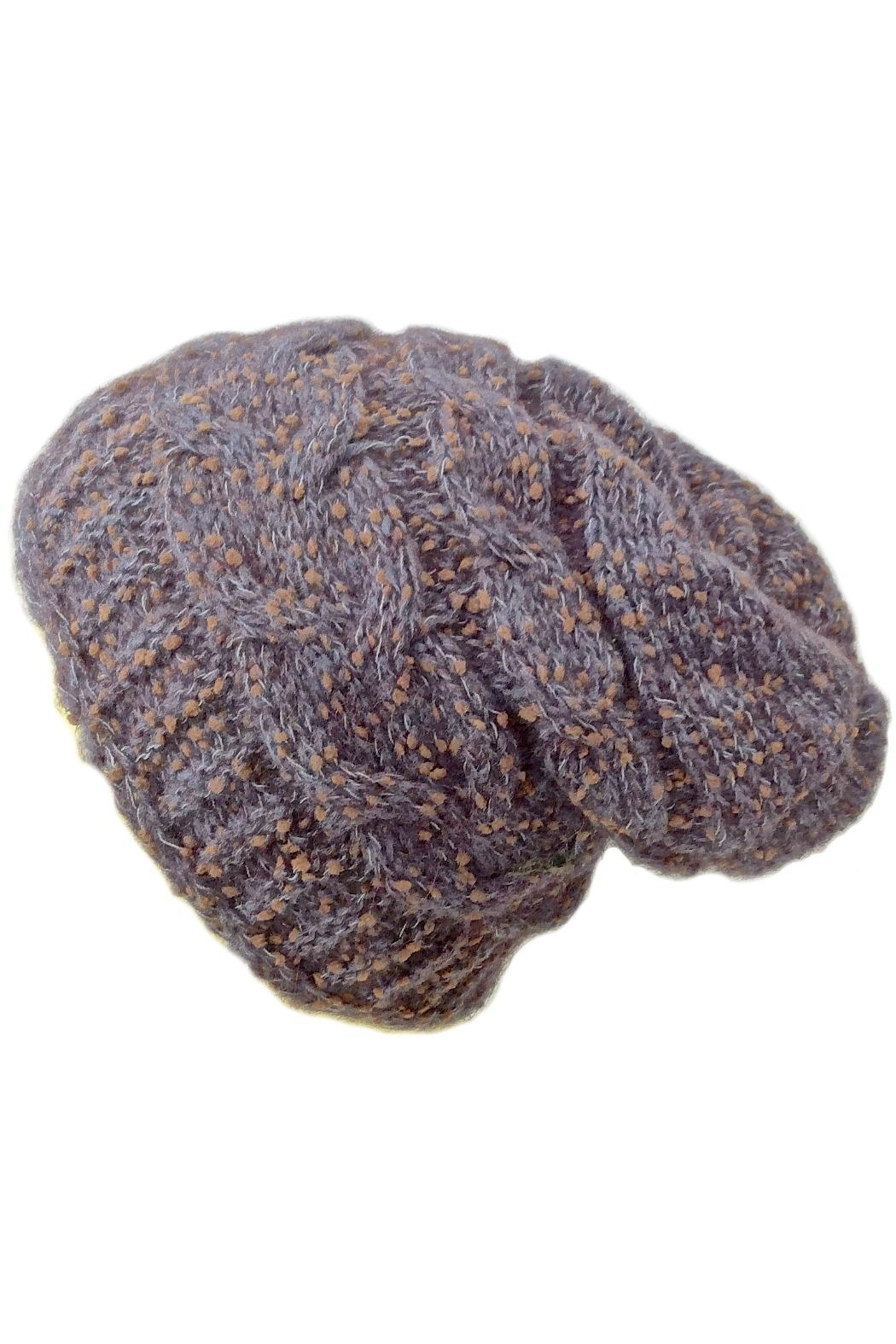 Grevi Slouchy Knitted Beanie - Front Cropped Image