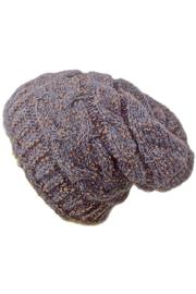 Grevi Slouchy Knitted Beanie - Front cropped