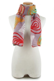 Look Grey Abstract Scarf - Product Mini Image