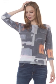 Katina Marie Grey Abstract Tee - Product Mini Image