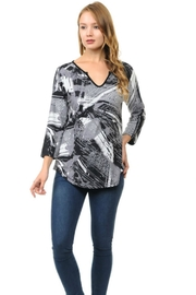 Cubism Grey Abstract Top - Product Mini Image