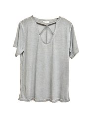 ee:some Grey Acid-Wash Top - Front full body