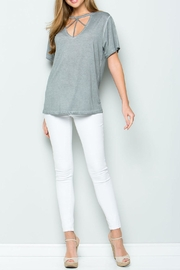 ee:some Grey Acid-Wash Top - Front cropped