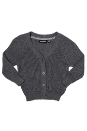 Rock Your Baby Grey Baby Cardigan - Front cropped