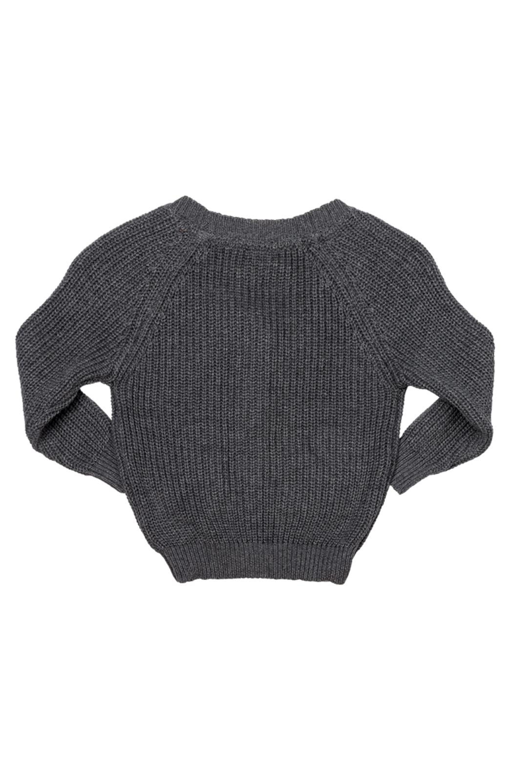 Rock Your Baby Grey Baby Cardigan - Front Full Image