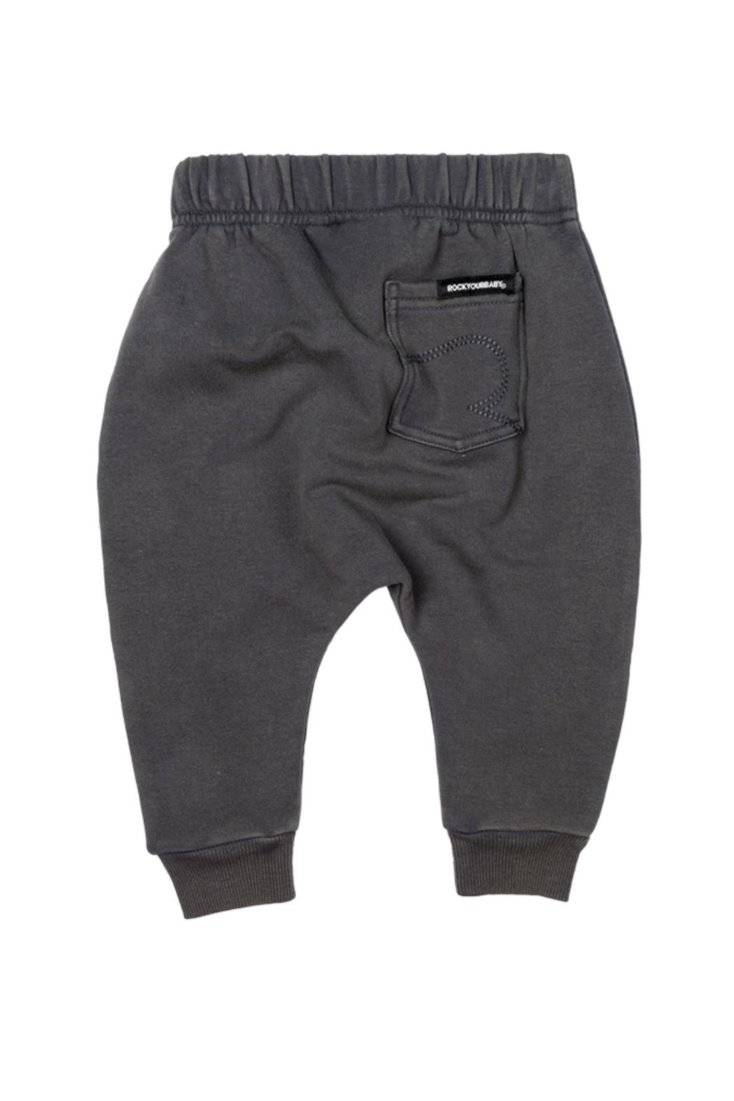 Rock Your Baby Grey Baby Trousers - Front Full Image