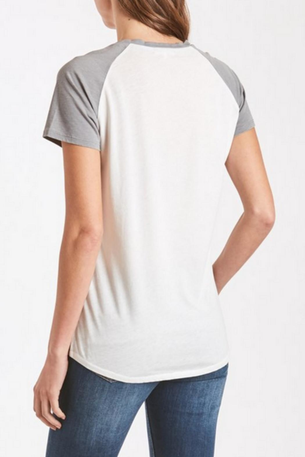 Another Love Grey Baseball Tee - Back Cropped Image