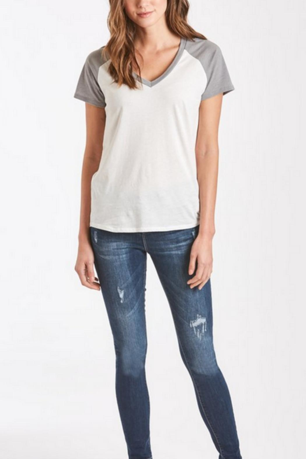 Another Love Grey Baseball Tee - Front Full Image