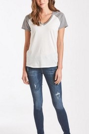 Another Love Grey Baseball Tee - Front full body