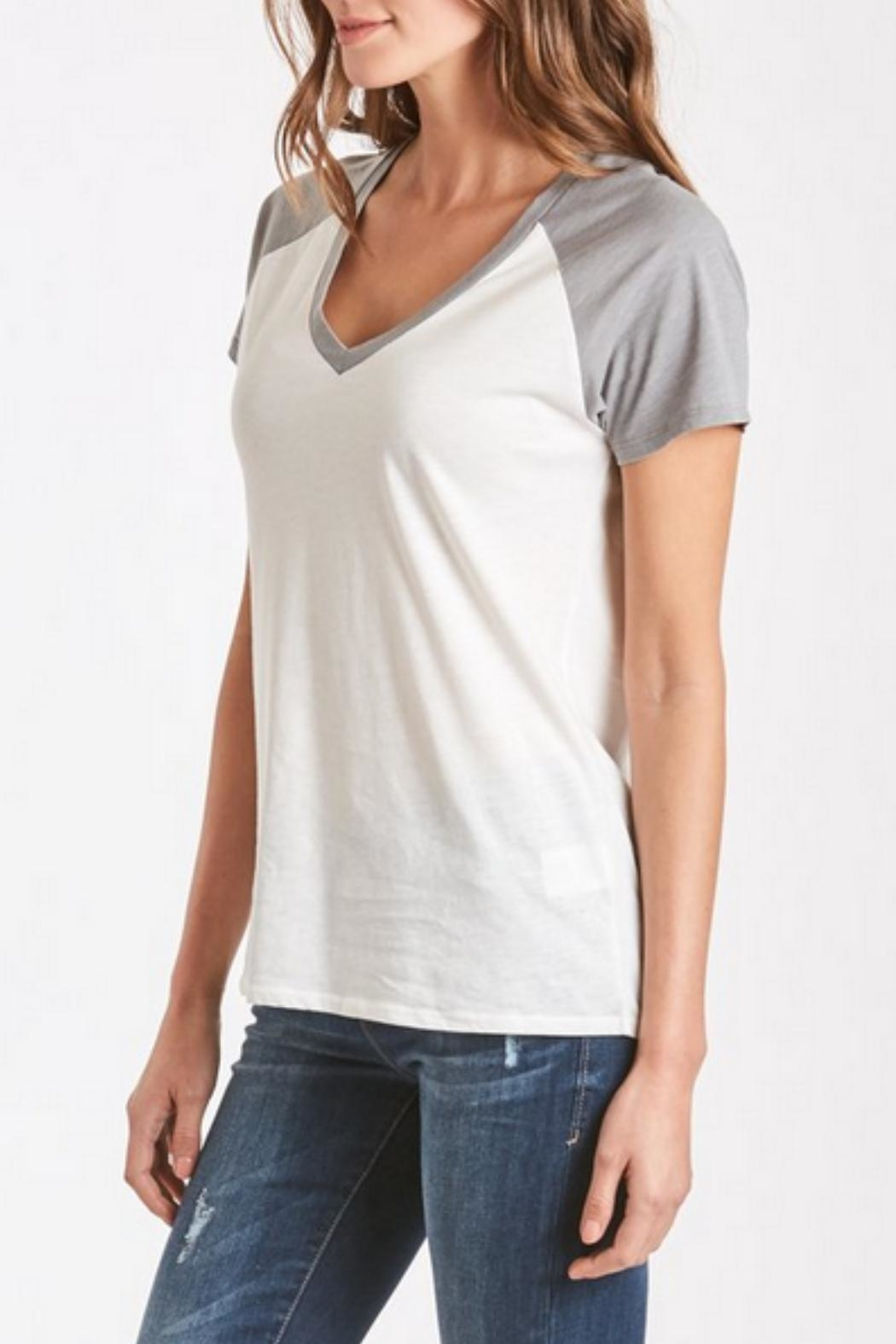 Another Love Grey Baseball Tee - Side Cropped Image