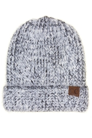 CC Beanie Grey-Black Chenille Beanie - Product Mini Image