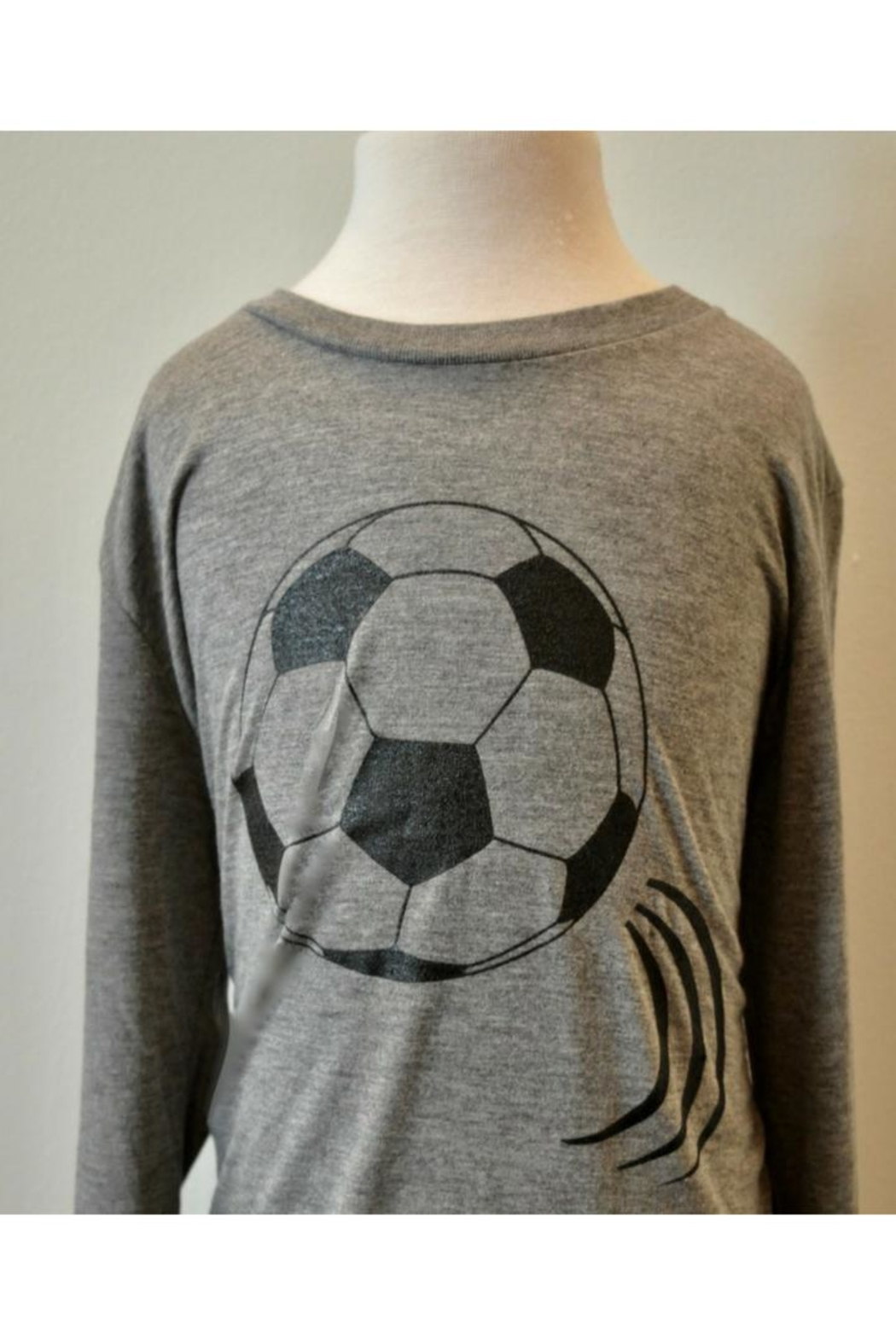 Canvas Grey/black Soccer T-Shirt - Front Cropped Image