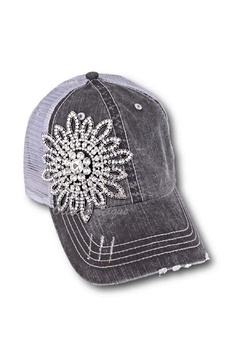 Olive & Pique Grey Bling Truckerhat - Product List Image