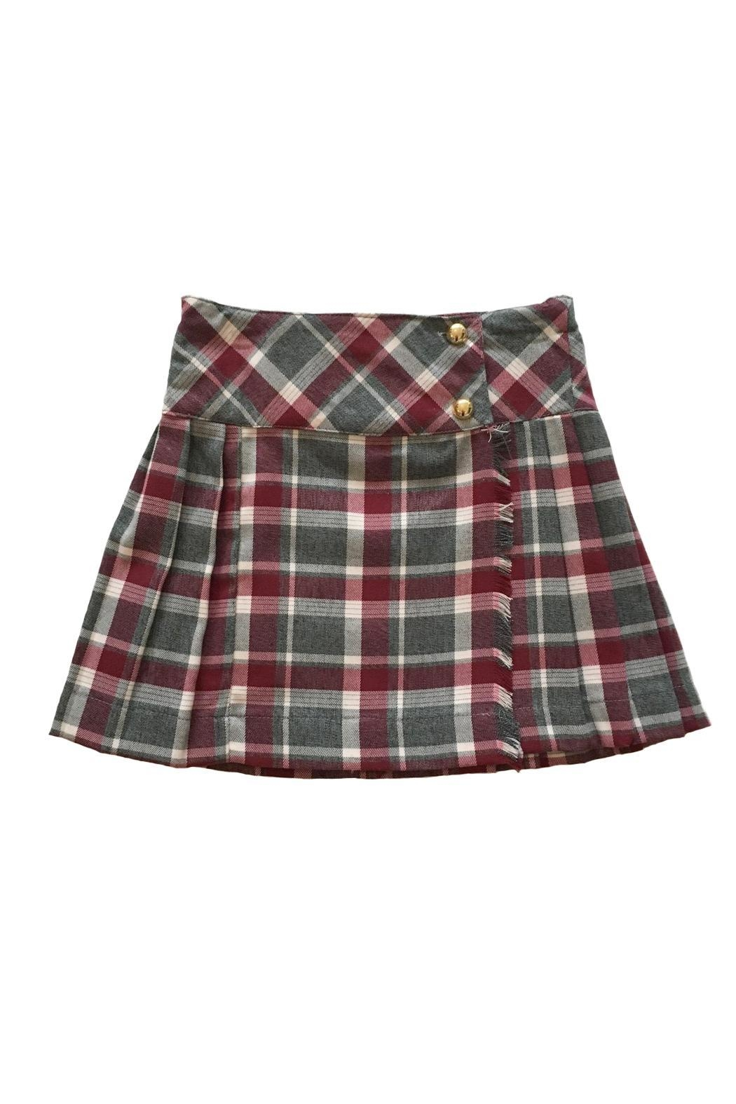 Malvi & Co. Grey Bordeaux Kilt. - Main Image