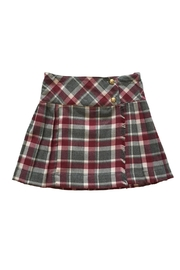 Malvi & Co. Grey Bordeaux Kilt. - Front cropped