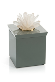 The Birds Nest GREY BOX WITH QUARTZ TOP - Front cropped