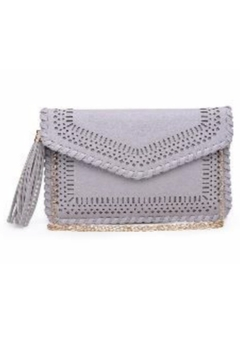 Street Level Grey Braided Tassel Clutch - Alternate List Image