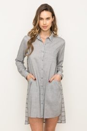 Mystree Grey Button Down - Product Mini Image