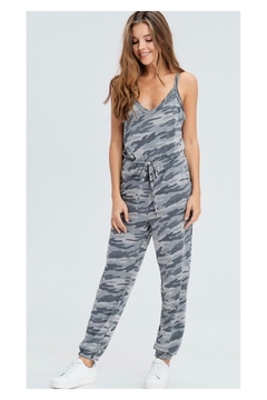 Polly & Esther Grey Camo Jumpsuit - Product List Image