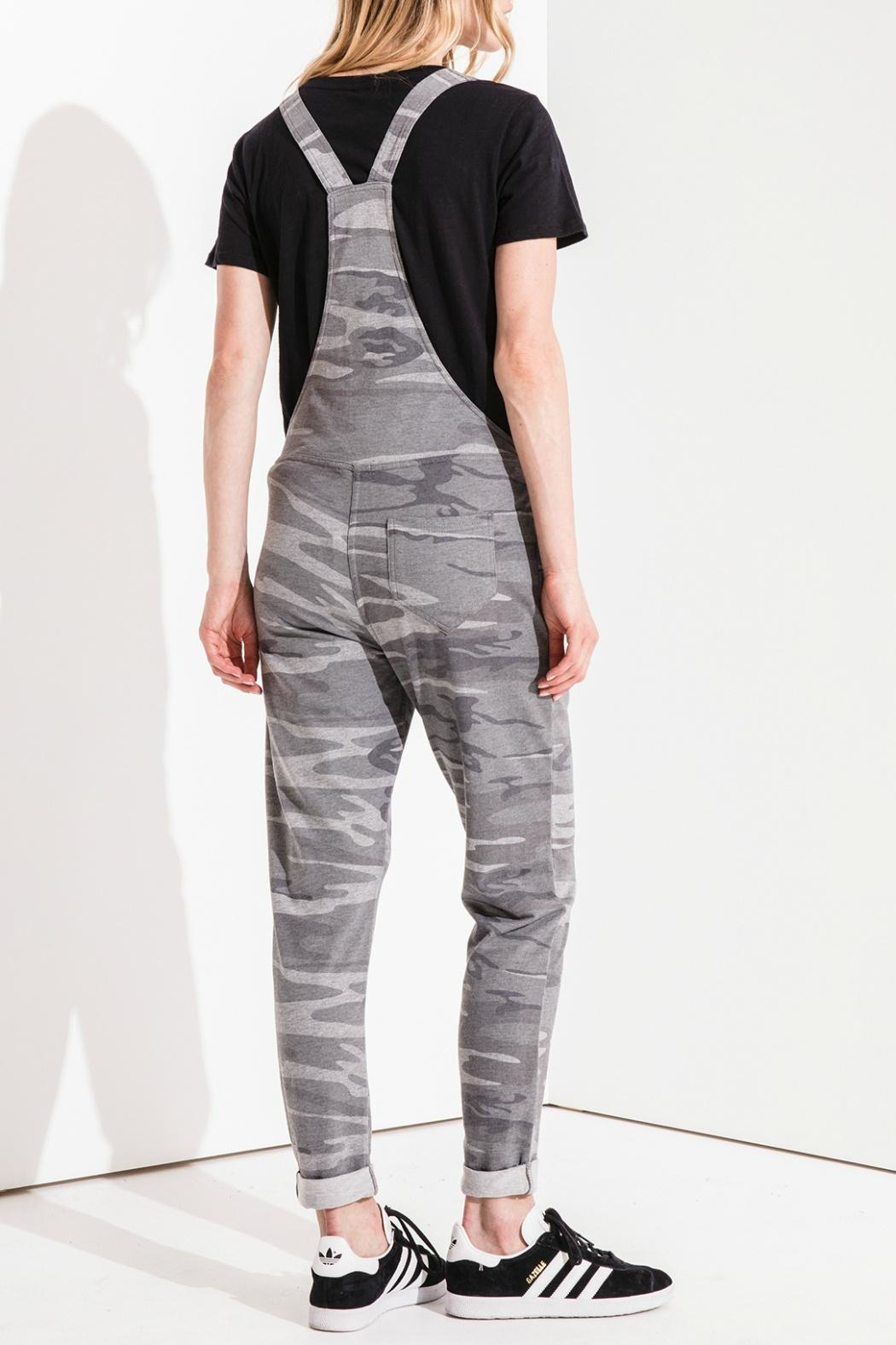 z supply Grey Camo Overalls - Front Full Image